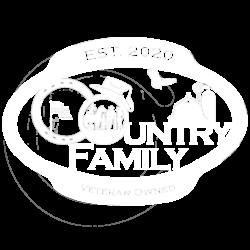 Country Family Logo - White